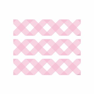 PhotoCake Strips PASTEL PINK GINGHAM