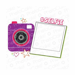 PhotoCake A4 Personalised Selfie