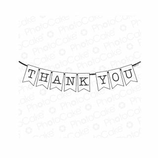 PhotoCake A4 Personalised Thank You Banner