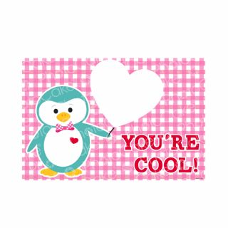 PhotoCake A4 Personalised You're Cool Penguin