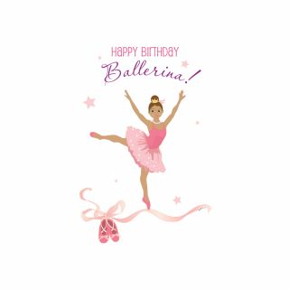 PhotoCake A4 Birthday Ballerina Latin