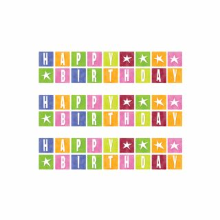 PhotoCake Strips BIRTHDAY STAR BLOCKS
