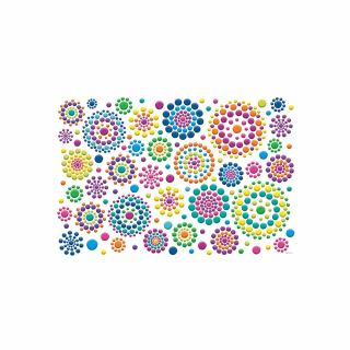 PhotoCake A4 Festive Dot Bursts Sheet