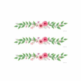 PhotoCake Strips FLORAL LAUREL