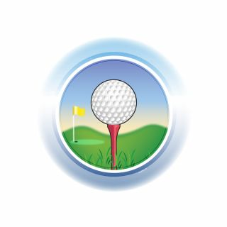 PhotoCake Round GOLF BALL ON TEE
