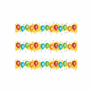 PhotoCake Strips HAPPY BIRTHDAY BALLOONS