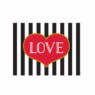 PhotoCake A4 Love Stripes