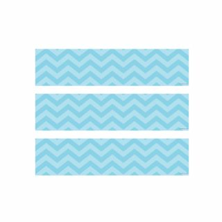 PhotoCake Strips PALE BLUE CHEVRON