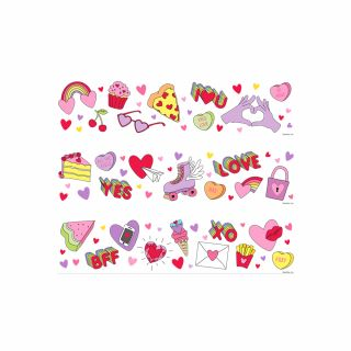 PhotoCake Strips TRENDY VALENTINE STRIPS