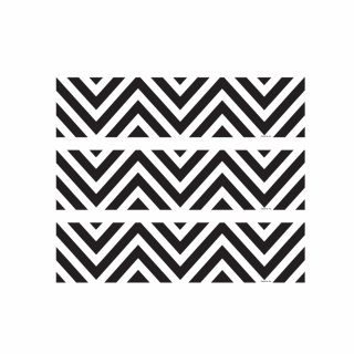 PhotoCake Strips BLACK AND WHITE CHEVRON