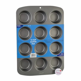 PME Bakeware Non Stick 12 Cup Muffin Pan