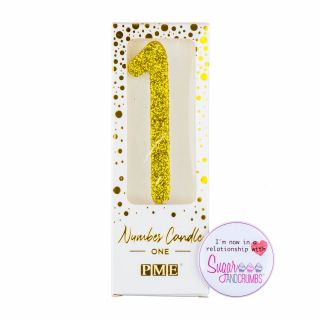 PME Candle Glitter Gold Number One