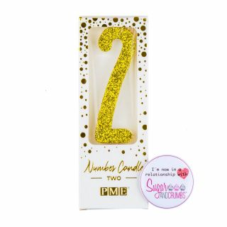 PME Candle Glitter Gold Number Two