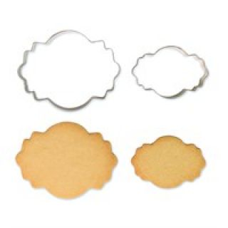 PME Cookie Plaque Cutter Style 4 Set of 2