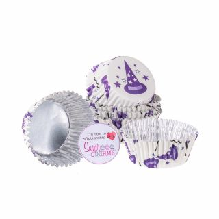 PME Cupcake Cases Foil Lined WISE WIZARDS Pack of 30