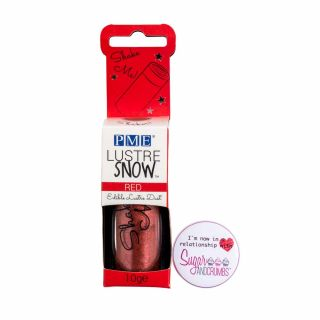 PME Edible Lustre Snow RED 10g
