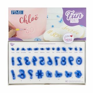 PME Fun Fonts Numeral and Specials Stamps