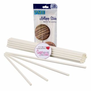 PME Lollipop Sticks Paper 7.9 inches Pack of 25