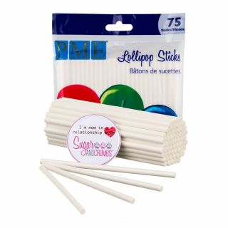 PME Lollipop Sticks Paper 3.7 inches Pack of 75