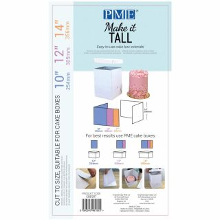 PME Make It Tall Cardboard Box Extender for 10. 12, 14 Inch
