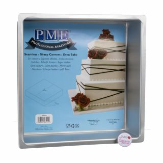 PME Professional Bakeware Square Seamless Cake Pan 10 x 04 inch