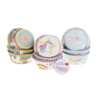 PME Cupcake Cases Foil Lined UNICORN Pack of 60