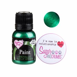 Rainbow Dust Paint METALLIC HOLLY GREEN