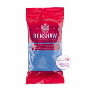 Renshaw Sugarpaste Ready to Roll ATLANTIC BLUE 250g