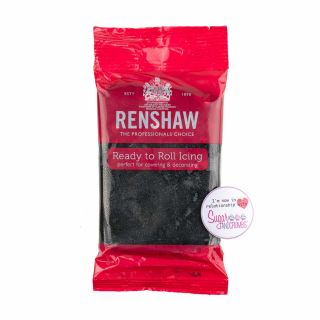 Renshaw Sugarpaste Ready to Roll JET BLACK 250g