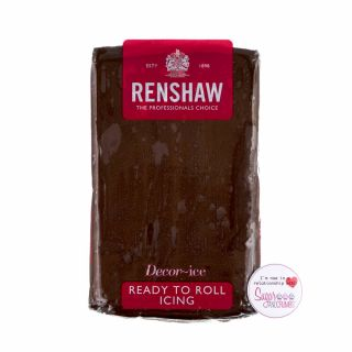 Renshaw Sugarpaste Ready to Roll CHOCOLATE FLAVOUR 250g