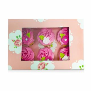 Rose Cupcake Window Box Fits 6