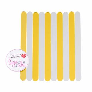 S&C Cakesicles Sticks Acrylic Mirror Gold Pack of 10