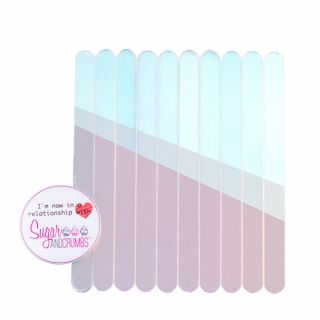 S&C Cakesicles Sticks Acrylic Pearlescent Pack of 10