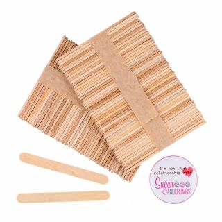 S&C Ice Cream Cake Popsicle Mould - Wooden Sticks Pack of 50