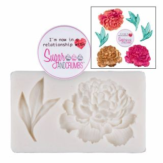 S&C Peony and Leaf Silicone Mould