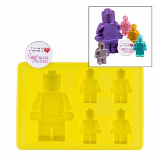Silicone Mould - Brick Man Large and 4 x Mini