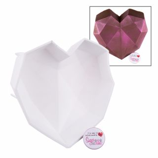 S&C Silicone Mould Geometric Giant Love Heart
