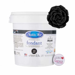 Satin Ice Fondant BLACK 2.5 Kilos