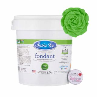 Satin Ice Fondant GREEN 2.5 Kilos