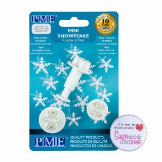 Shape Plunger Cutters Mini Snowflake Set of 3