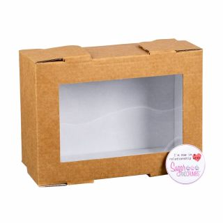Small Treat Box with Window Lid 6.5 x 4.5 inches