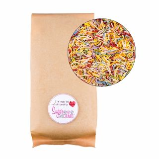 Sprinklelicious Pearlised RAINBOW Strands 250G