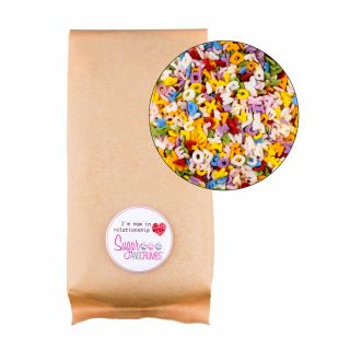 Sprinklelicious Rainbow Confetti Alphabet Medium Bag 250g