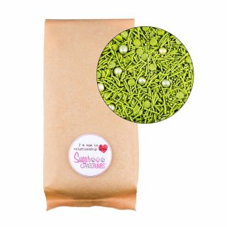 Sprinklelicious Woodland Green Mix Medium Bag 500g