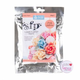 Squires Kitchen Florist Paste CANDY PEACH 200g