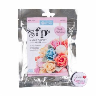 Squires Kitchen Florist Paste CANDY PINK 200g