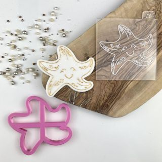 Starfish Under the Sea Cookie Cutter and Embosser Set