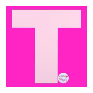 Stencil Large T 10 Inch