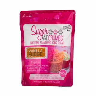 Sugar and Crumbs Natural Flavoured Icing Sugar VANILLA FUDGE 500g