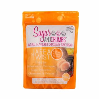 Sugar and Crumbs Natural Flavoured Icing Sugar JAFFA TWIST 500g